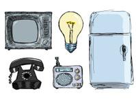 set of vintage domestic technique