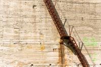 Old iron staircase