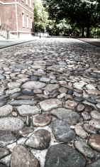 Philadelphia cobblestone street