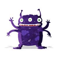 cartoon alien monster