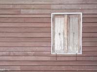old wood window on buliding