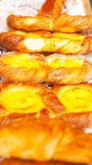 Puff pastry with vanilla cream