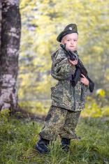 Fearless little soldier