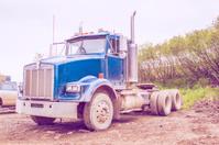 Blue american truck