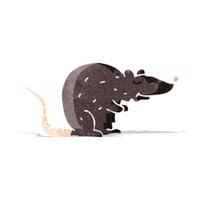 cartoon black rat