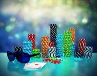 3d illustration of Poker Chips