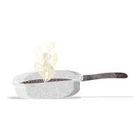 cartoon frying pan