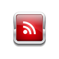 RSS Rounded Rectangular Vector Red Web Icon Button