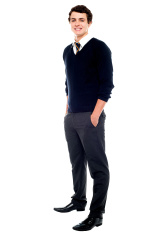 Full length portrait of a school going youngster