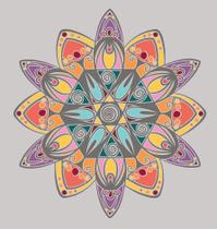 Coloring mandala design