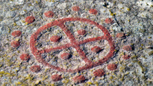 Scandinavian bronze age sun symbol,