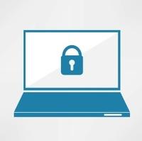 Vector Laptop Password Icon