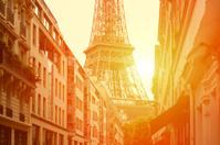 the street in Paris under sunlight