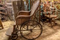 Grandmas Attic, Wicker Wheelchair (HDR)