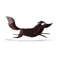 cartoon wolf running
