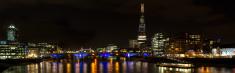 Panorama of London at night