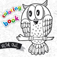 Coloring book - cute owl
