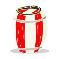 cartoon painted barrel