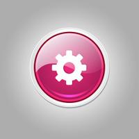 Settings Circular Vector Pink Web Icon Button