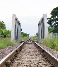 Closeup railway