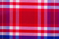 Red cotton cloth in checked