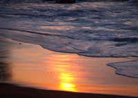 Wave Breaking on Australian Beach
