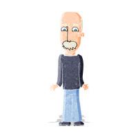 cartoon dad shrugging shoulders