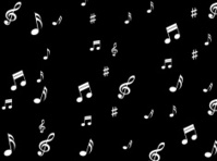 Musical Notes Background Means Melodies Sounds And Notes