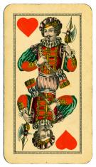 Knave of Hearts playing card Tarot Austrian Tarock 1900