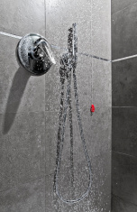 Shower water entire