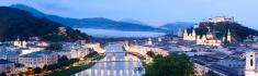 Salzburg City Skyline in Austria