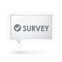 survey word on a speech bubble