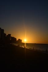 Beautiful sunset in Fortaleza