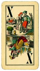 Trump X Tarot Austrian Taroch playing card 1900
