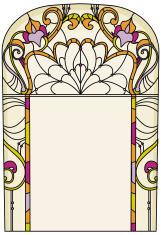 Elegant design for vitrail/stained glass
