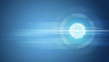 Transparent circles on blue background