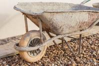 Construction site wheelbarrow