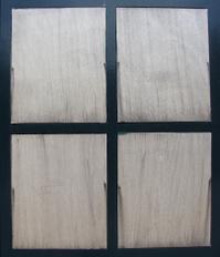 black fake window with painted white brush grunge