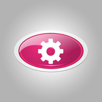 Settings Elliptical Vector Pink Web Icon Button