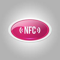 NFC Elliptical Vector Pink Web Icon Button