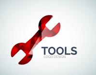 Tools Icon Logo Design Made Of Color Pieces