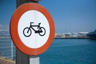 Bike lane beside the sea