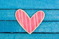 pink wooden heart shape