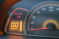 close view of car dashboard