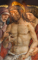 Padua - Deposition of the cross or tortured Jesus  fresco