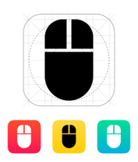 Computer Mouse Vector Icon Illustration Design Stock