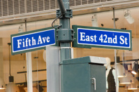 Street Sign in New York City - Fifth Ave & 42nd Street