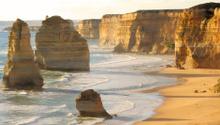 Twelve Apostles, famous landmark along the Great Ocean Road, Aus