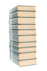 Books stack isoalted on white