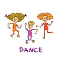 dance people doodle vector